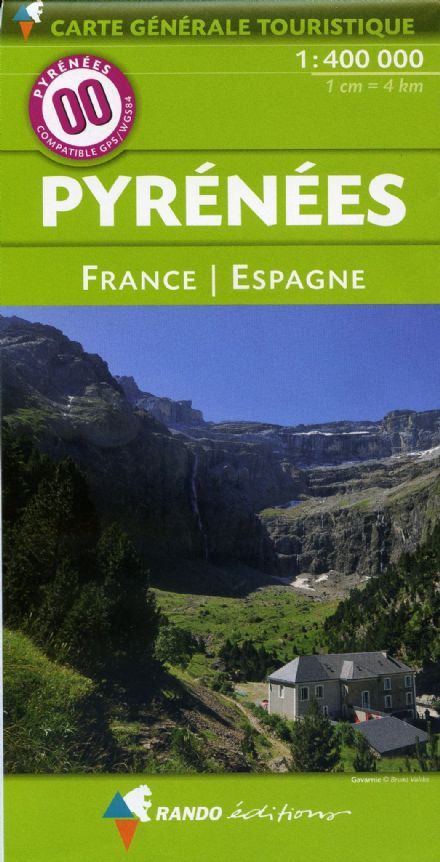 Rando Editions 1:400,000 Map Of the Pyrenees Map 00